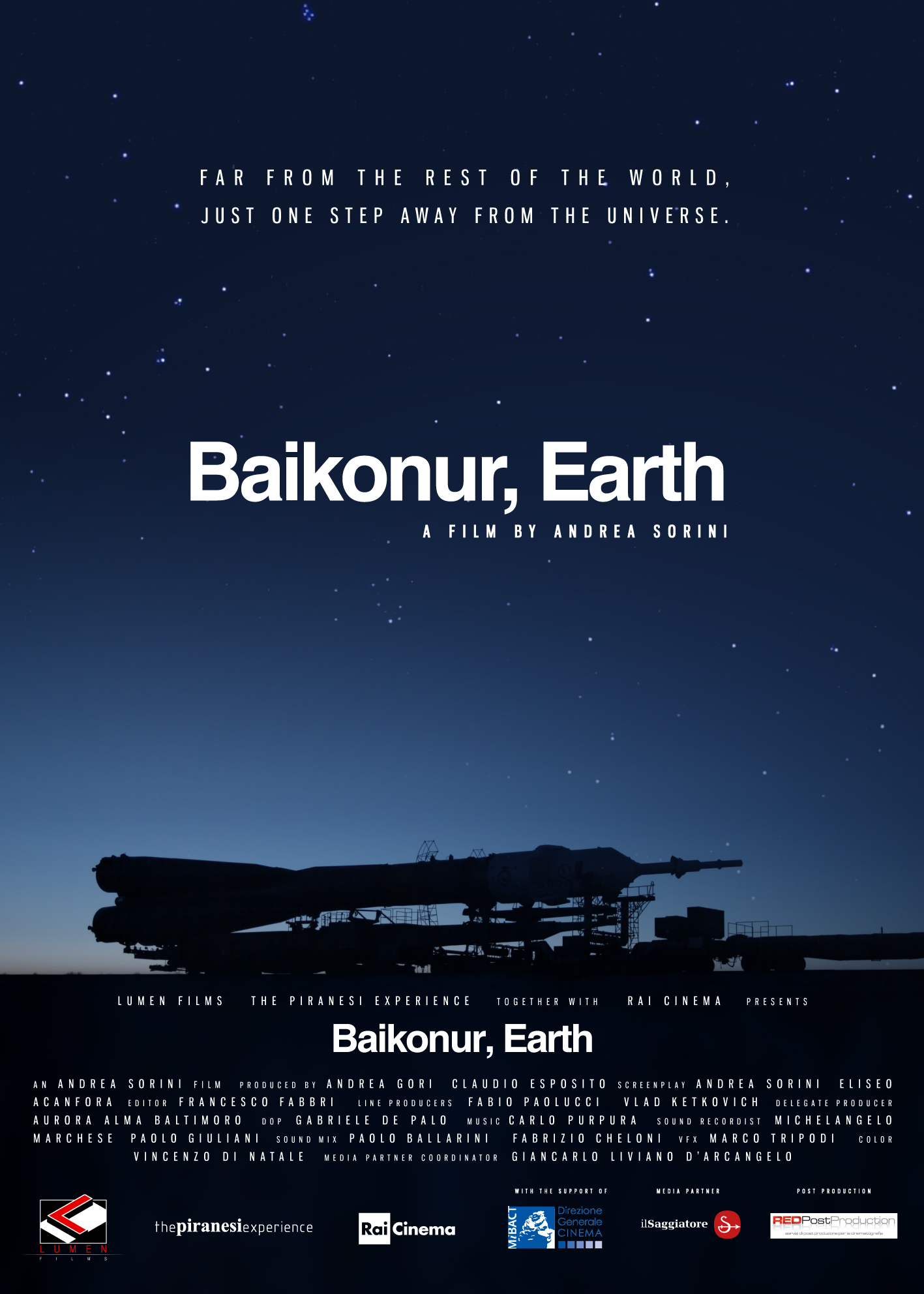Baikonur Earth poster